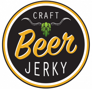 Craft Beer logo text with Hop Horns. Yellow and Green